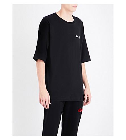 UEG Dissenter-print cotton-jersey T-shirt (Black