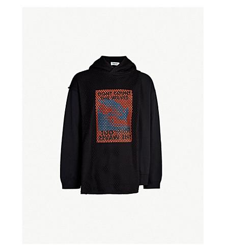 AMBUSH Mesh and cotton hoody (Black