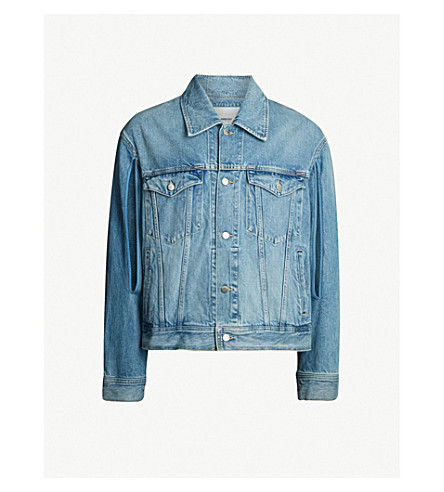 AMBUSH Patchwork-back denim jacket (Blue