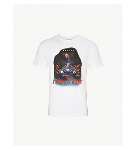 AMBUSH Scorpion-print cotton-jersey T-shirt (White