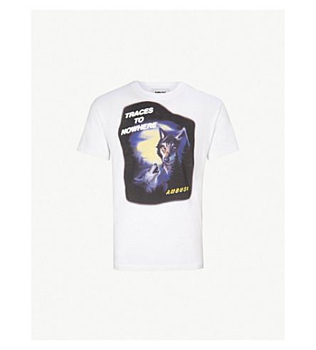 AMBUSH Wolf-print cotton-jersey T-shirt (White