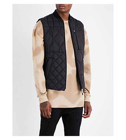 RAEBURN X SAVE THE DUCK Christopher Raeburn x Save the Duck quilted gilet (Black