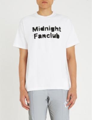 MIDNIGHT STUDIOS Logo-Print Cotton-Jersey T-Shirt in White