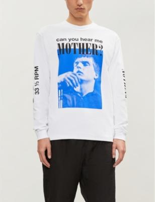 MIDNIGHT STUDIOS Joy Division Print Cotton-Jersey T-Shirt in White