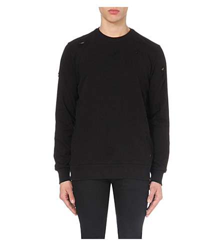 CRIMINAL DAMAGE Shoreditch cotton-jersey sweatshirt (Black