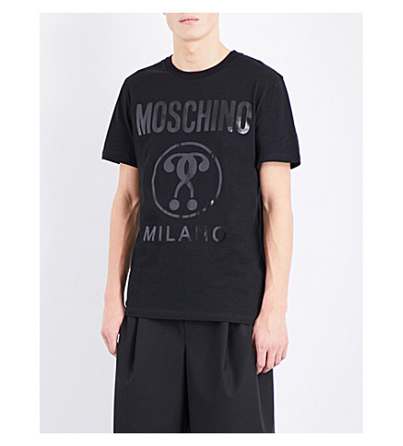 MOSCHINO Logo-print cotton-jersey T-shirt (Black