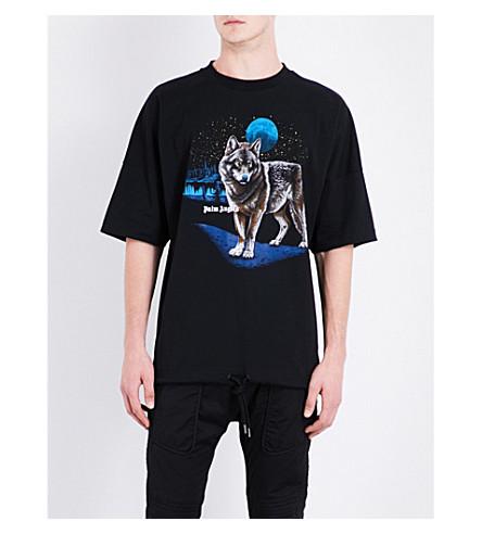 PALM ANGELS Alfa cotton T-shirt (Black+multicolour