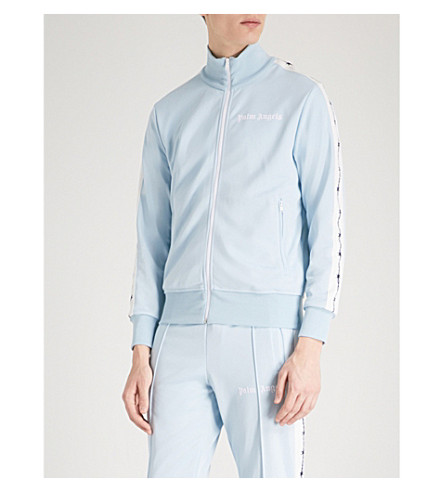 PALM ANGELS Barbed Wire jersey jacket (Baby+blue+black