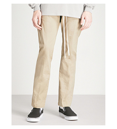 FEAR OF GOD Regular-fit straight cotton trousers (Khaki