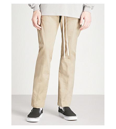 FEAR OF GOD Regular-fit straight cotton trousers (Khaki