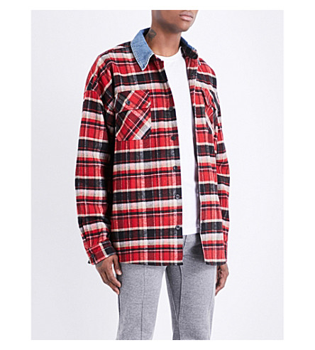 FEAR OF GOD Fifth Collection oversized denim shirt (Red+plaid