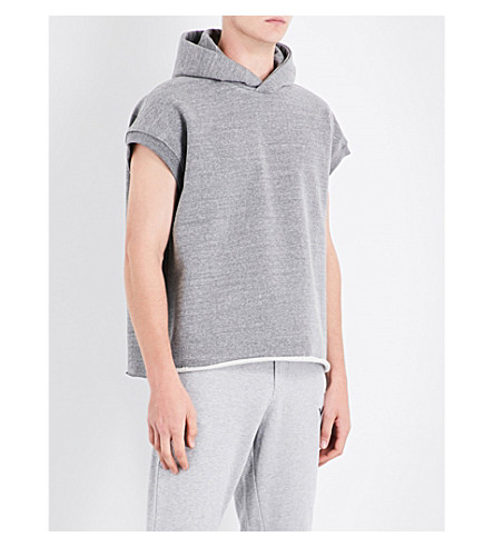 FEAR OF GOD Fifth Collection sleeveless cotton-jersey hoody (Heather+grey