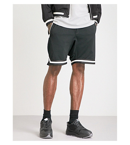 FEAR OF GOD Fifth Collection dropped-crotch mesh shorts (Black