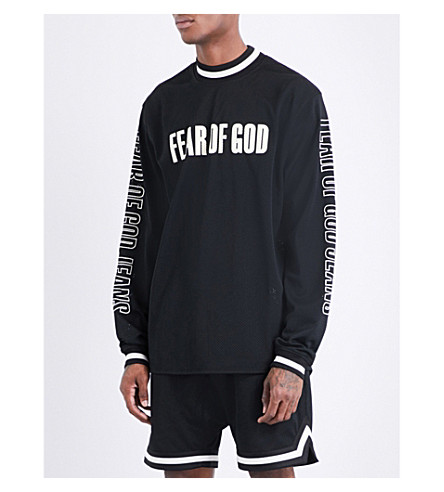 FEAR OF GOD Fifth Collection logo-print mesh top (Black