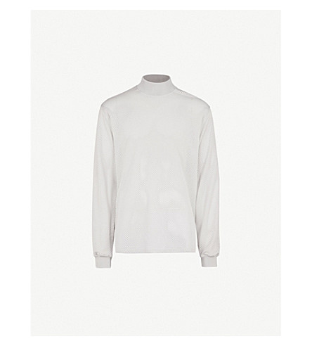 FEAR OF GOD Fifth Collection logo-print mesh top (Grey