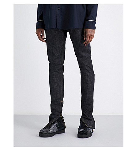 FEAR OF GOD Fifth collection raw selvedge slim-fit tapered jeans (Raw