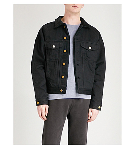 FEAR OF GOD Fifth Collection selvedge denim trucker jacket (Black