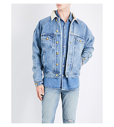 FEAR OF GOD Fifth Collection selvedge denim trucker jacket (Vintage+indigo