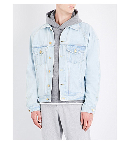 FEAR OF GOD Fifth Collection selvedge denim trucker jacket (Light+indigo