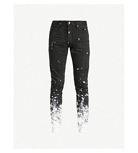 FEAR OF GOD Zipped-cuffs slim-fit skinny jeans (Black