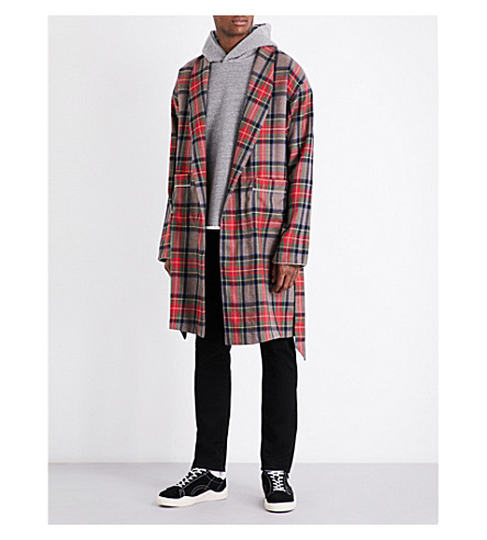 FEAR OF GOD Fifth Collection checked wool robe (Brown+plaid