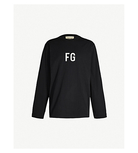 FEAR OF GOD Sixth Collection logo-print cotton-jersey sweatshirt (Vintage black
