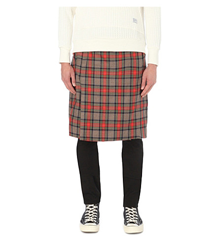 FEAR OF GOD tartan wool kilt (Red