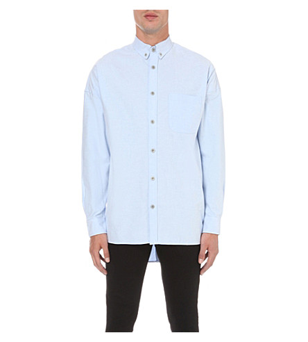 FEAR OF GOD Regular-fit cotton oxford shirt (Lt+blue