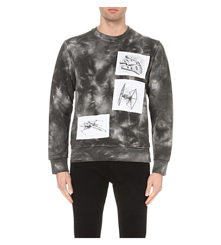 STAR WARS FORCE FOR CHANGE J.W. Anderson tie-dye cotton-jersey sweatshirt (Black