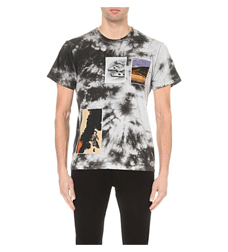 STAR WARS FORCE FOR CHANGE J.W. Anderson tie-dye cotton-jersey t-shirt (Black