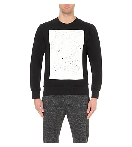 STAR WARS FORCE FOR CHANGE Phoebe English cosmic-print cotton-jersey sweatshirt (Black