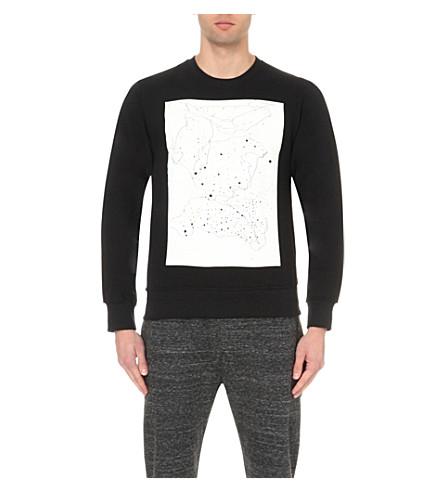 STAR WARS FORCE FOR CHANGE Phoebe English cosmic-print cotton-jersey sweatshirt (Black