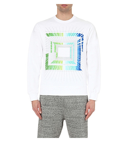 STAR WARS FORCE FOR CHANGE Peter Pilotto graphic-print cotton-jersey sweatshirt (White