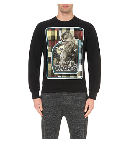 STAR WARS FORCE FOR CHANGE Preen Chewbacca cotton-jersey sweatshirt (Black
