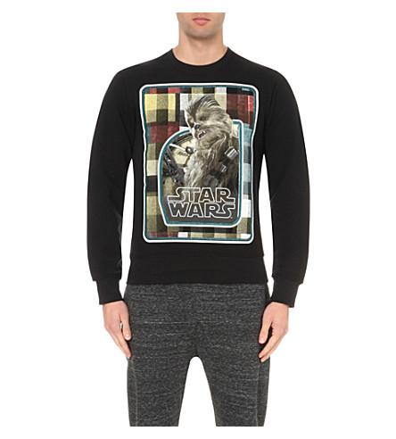 STAR WARS FORCE FOR CHANGE Preen Chewbacca cotton-jersey sweatshirt (Black