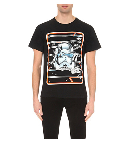 STAR WARS FORCE FOR CHANGE Preen Stormtrooper cotton-jersey t-shirt (Black