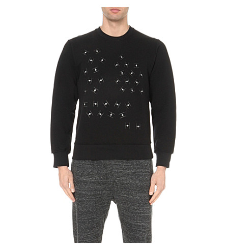 STAR WARS FORCE FOR CHANGE Christopher Raeburn spaceships cotton-jersey sweatshirt (Black