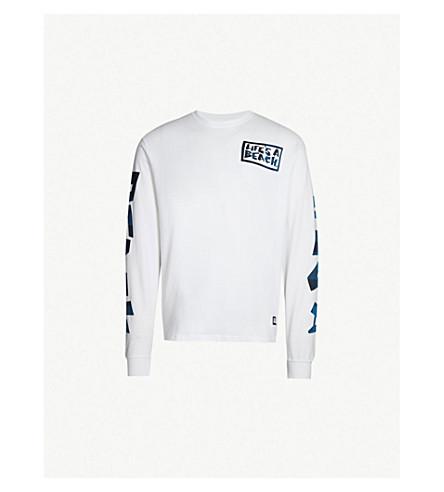 LIFES A BEACH Graphic-logo cotton-jersey T-shirt (White
