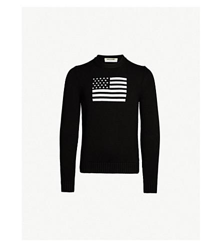1017 ALYX 9SM Allegiance flag-intarsia cotton sweater (Black