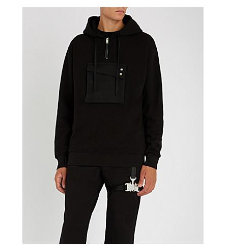 ALYX Pocket-embellished cotton-jersey hoody (Black