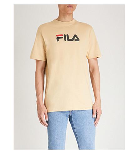FILA Logo-print cotton-jersey T-shirt (Beige