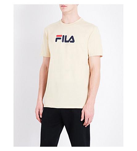 FILA Logo-print cotton-jersey T-shirt (Marzipan
