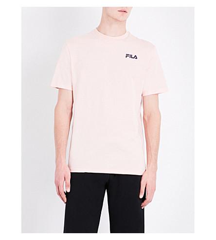 FILA Sign language logo-print cotton-jersey T-shirt (Evening+sand