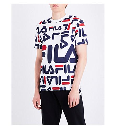 FILA Logo-print cotton-jersey T-shirt (White