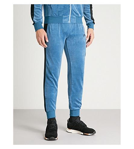 FILA Velvet cotton-blend jogging bottoms (Blue