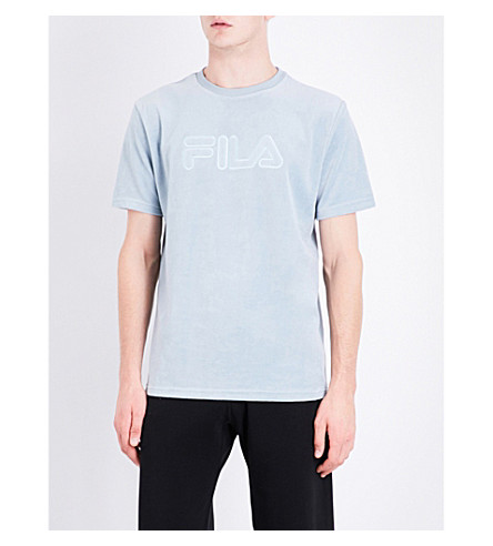 FILA Logo-embroidered cotton-blend T-shirt (Arona