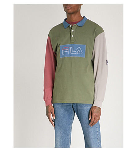 FILA Fila x Liam Hodges cotton-piqué polo top (Multi