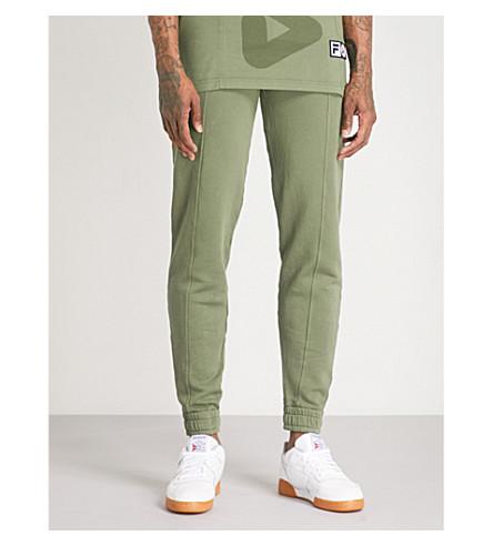 FILA Fila x Liam Hodges cotton-jersey jogging bottoms (Green