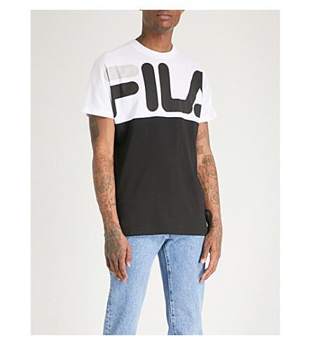 FILA Logo-print cotton-jersey T-shirt (Black