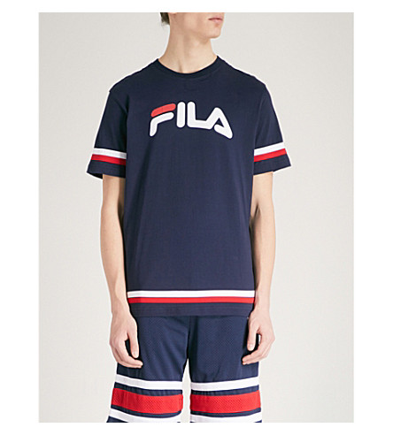 FILA Logo-print cotton-jersey T-shirt (Peacoat